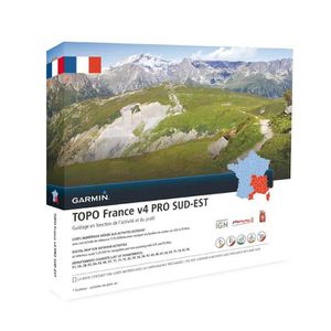 BRACELET D'ACTIVITÉ GARMIN Carte Topo France V4 Sud-Est Pro