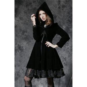 Manteau gothique femme achat vente manteau gothique femme pas cher soldes cdiscount - Cafe velours noir pas cher ...