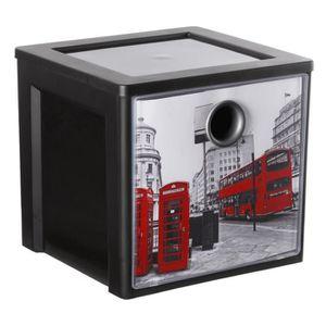 CASIER POUR MEUBLE SUNDIS Cube boîte de rangement Decobox City 11L 25