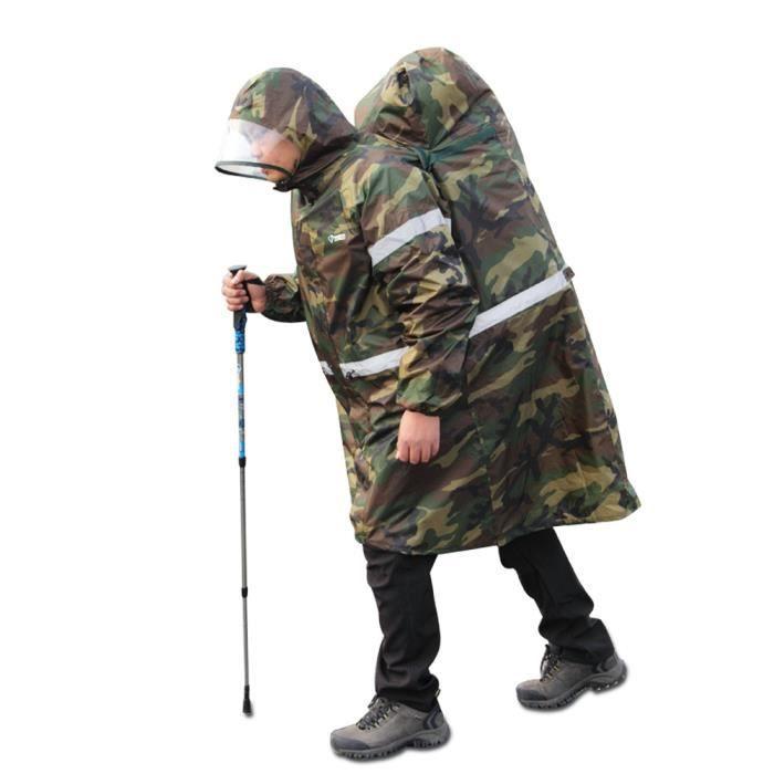 bluefield poncho v tement de pluie imperm able poncho de protection pour vous et sac dos en. Black Bedroom Furniture Sets. Home Design Ideas