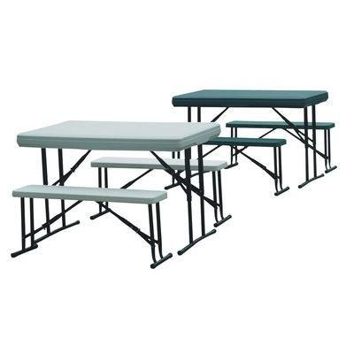 Table de camping et 2 bancs encastrables pour u achat vente table de jar - Table jardin cdiscount ...