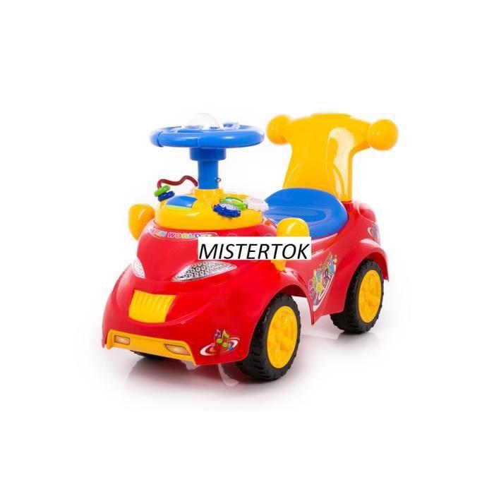 porteur trotteur pousseur petite voiture enfant bebe rouge. Black Bedroom Furniture Sets. Home Design Ideas