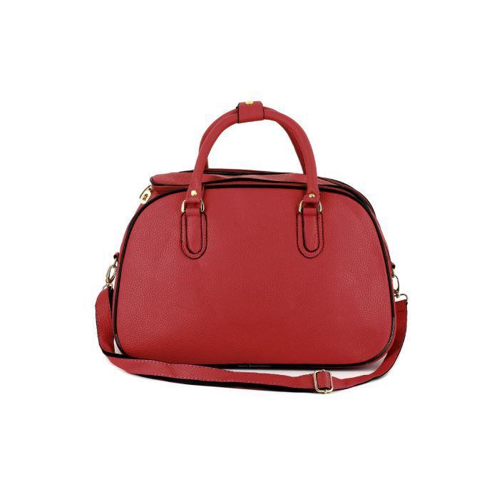 petit sac de voyage rouge achat vente sac de voyage 3613140086338 cadeaux de no l cdiscount. Black Bedroom Furniture Sets. Home Design Ideas