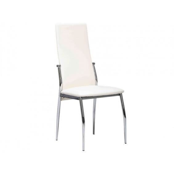 City chaise blanche achat vente chaise blanc cdiscount for Chaise blanche sejour