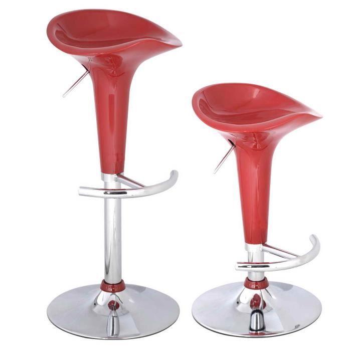 2 x tabouret de bar chaise de cuisine pivotante 360 hauteur r glable achat vente tabouret. Black Bedroom Furniture Sets. Home Design Ideas