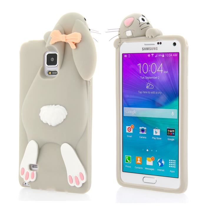 Pour samsung galaxy note 4 n9100 moonmini 3d mignon lapin for Housse galaxy note 4