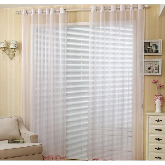 rideaux de tulle rouge pour chambre largeur de 1 5 m par 2 8 m une couleur longueur d 39 ivoire. Black Bedroom Furniture Sets. Home Design Ideas