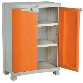 armoire de rangement basse 2 portes oranges achat vente armoire de chambre armoire de. Black Bedroom Furniture Sets. Home Design Ideas