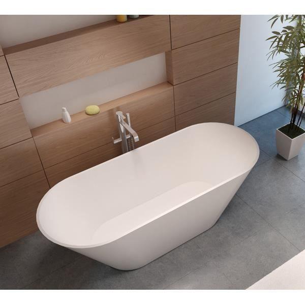 Baignoire lot en solid surface riho barcelona 170x70 cm achat vente baig - Achat baignoire ilot ...