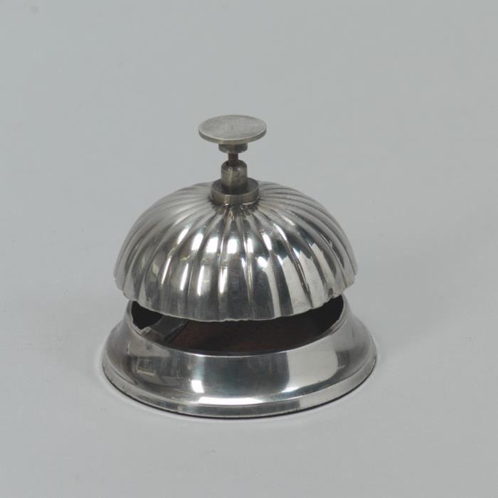 Cloche de comptoir couleur argent achat vente cloche - Sonnette de comptoir ...