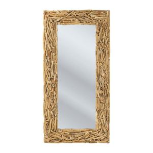 Miroir bois flotte achat vente miroir bois flotte pas for Miroir hauteur 160