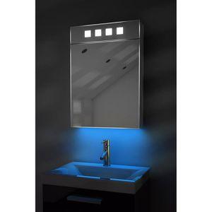 armoire de toilette avec lumiere achat vente armoire. Black Bedroom Furniture Sets. Home Design Ideas