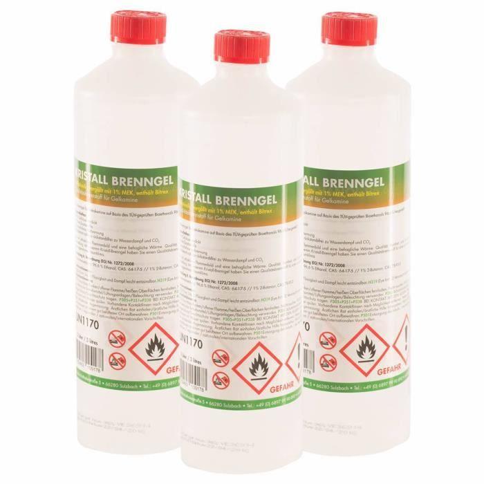 Bio thanol en gel 15 x 1 l achat vente ethanol - Buche compressee avis ...