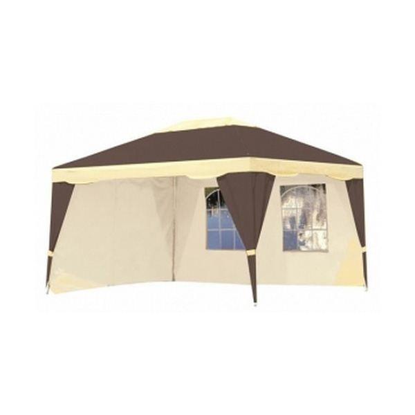 tonnelle en toile luxury chocolat beige 4x3m achat vente tonnelle barnum tonnelle en toile. Black Bedroom Furniture Sets. Home Design Ideas
