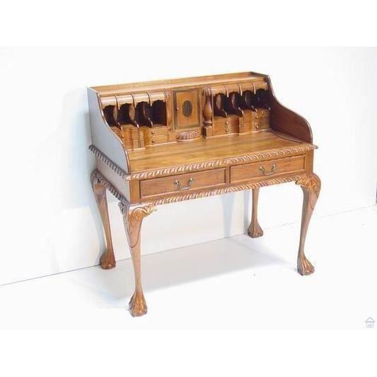 Bureau secretaire indon sien en teck style co achat vente bureau bur - Bureau style colonial ...