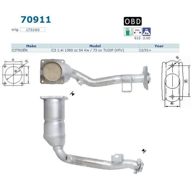 pot catalytique peugeot 1007 magnaflow achat vente pot catalytique pot catalytique peugeot