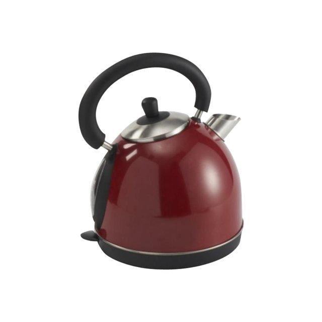 electromenager petit dejeuner cafe harper bouilloire metal rouge hwkmetallisered f  harperhwkr