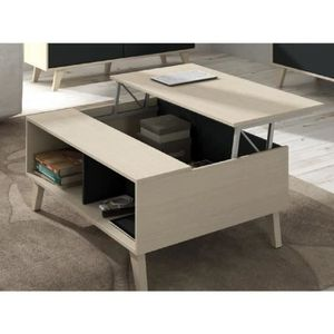 Table basse amovible achat vente table basse amovible for Table basse scandinave plateau relevable