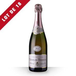 ASSORTIMENT CHAMPAGNE 18X Charles Tession Brut Rosé 75cl Grand Cru - Vin