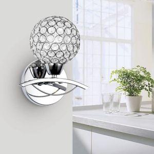 applique murale en cristal achat vente applique murale en cristal pas cher cdiscount. Black Bedroom Furniture Sets. Home Design Ideas