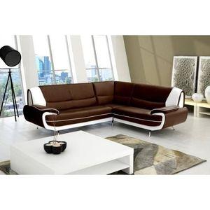 canape chocolat et blanc achat vente canape chocolat et blanc pas cher cdiscount. Black Bedroom Furniture Sets. Home Design Ideas