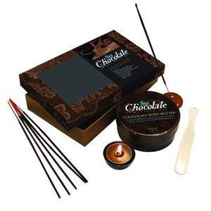 MASSAGE - BOUGIE Coffret de massage chocolat, cadeau romantique