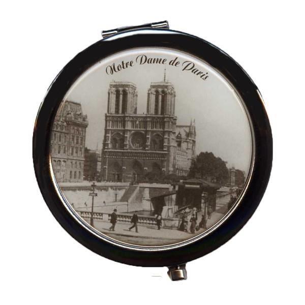 Miroir de sac paris notre dame de paris noir et blanc achat vente miroi - Miroir noir et blanc ...
