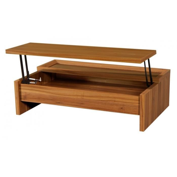 Table basse woody plateau relevable achat vente table for Table basse plateau relevable but
