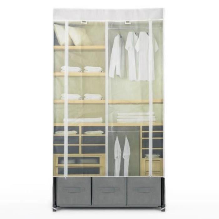 armoire en tissu cosmopolitan achat vente penderie. Black Bedroom Furniture Sets. Home Design Ideas