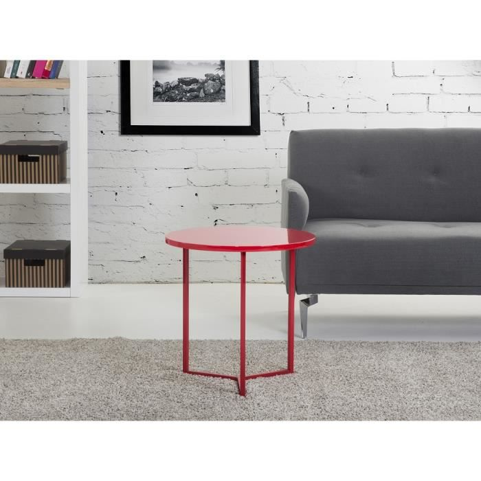 Table basse design table d appoint rouge 50x50 cm for Meuble 50x50