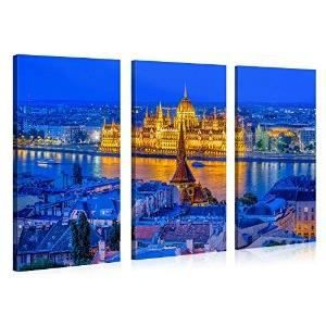 Tableau deco moderne glowing budapest palace 1 achat for Tableau pret a accrocher