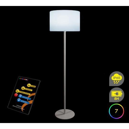 Lampadaire de jardin led h143cm sans fil rechargea achat for Ampoule lampadaire exterieur