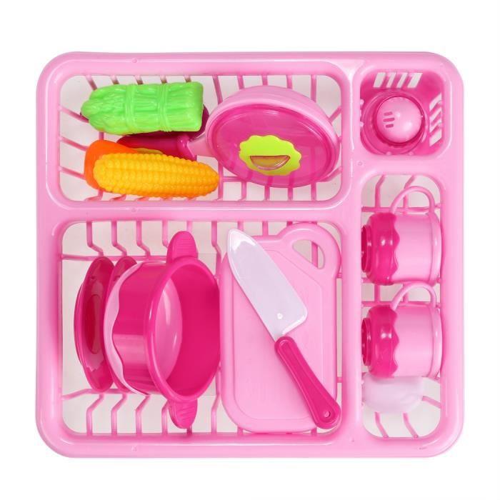 13pcs jouet enfants d nette cuisine en plastique rose plus - Cuisine plastique jouet ...