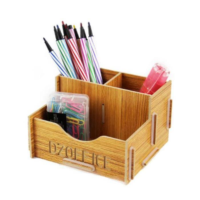 utilitaire de bricolage en bois bo te de rangement pen pencil d tachables 33 achat vente. Black Bedroom Furniture Sets. Home Design Ideas
