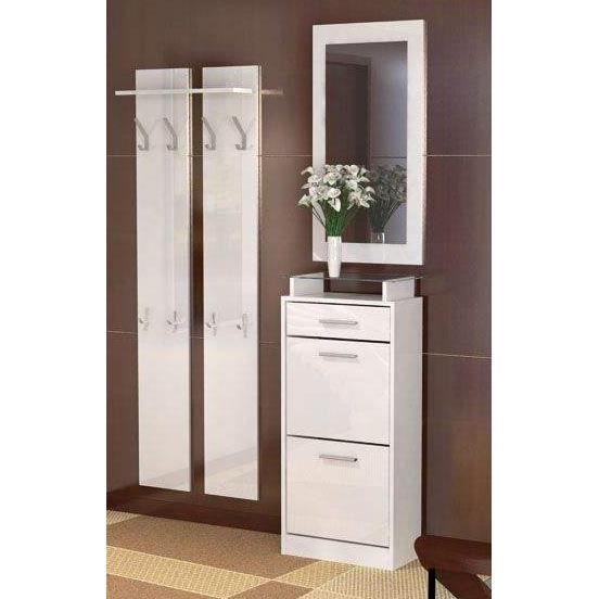 vestiaire d entr e 115 x 195 x 23 cm blanc achat vente meuble d 39 entr e vestiaire d entr e. Black Bedroom Furniture Sets. Home Design Ideas