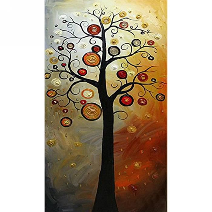 Tableau peinture huile toile abstraite fait main sans for Peinture a tableau