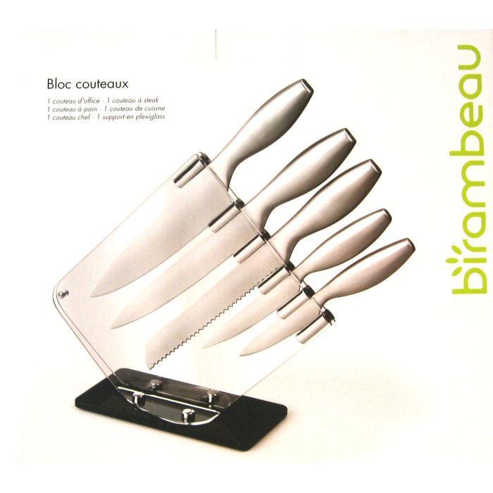 Bloc 5 couteaux achat vente couteau de cuisine bloc 5 - Bloc couteau de cuisine ...
