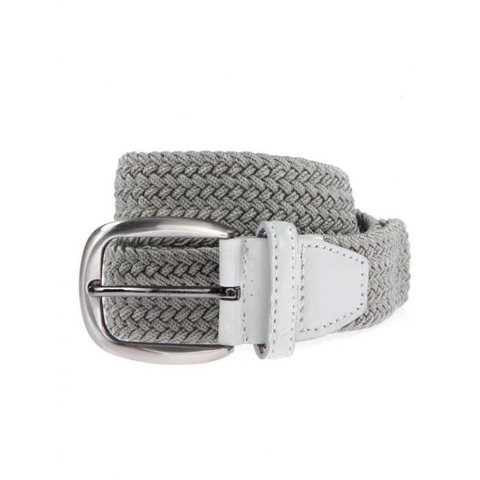 bruce field ceinture tress e lastique gris achat. Black Bedroom Furniture Sets. Home Design Ideas
