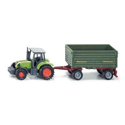 voiture camion tracteur avec remorque deux essieux