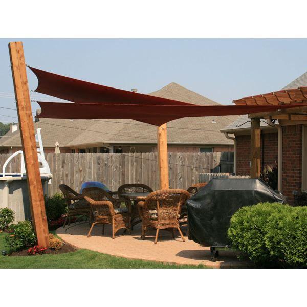 voile solaire d 39 ombrage carr e 5m x5m terra achat vente parasol ombrage voile solaire. Black Bedroom Furniture Sets. Home Design Ideas