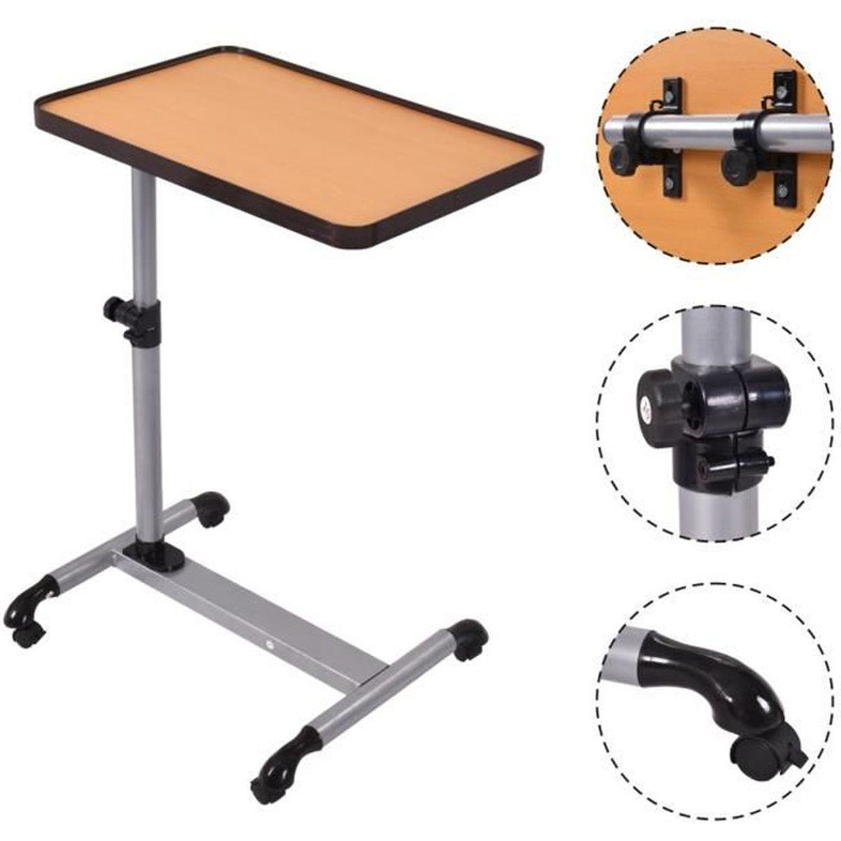 table d ordinateur portable table de lit hauteur angle. Black Bedroom Furniture Sets. Home Design Ideas