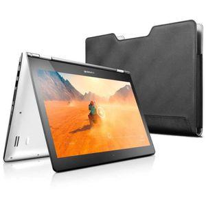 """PC Portable avec écran tactile 14"""" Full HD + Housse - Blanc - Processeur Intel Core I3 4005U - Mémoire 4 Go - Stockage 1To - Nvidia Geforce G920M - Wifi - Bluetooth - HDMI - RJ45 - 2xUSB3.0 + 1xUSB2.0 - Lecteur multicarte 4-en-1 - Webcam HD 720p - Wi"""
