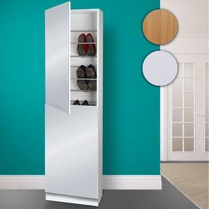 armoire a chaussures miroir achat vente armoire a chaussures miroir pas cher cdiscount. Black Bedroom Furniture Sets. Home Design Ideas