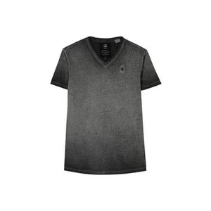 T-SHIRT TEE SHIRT G STAR HOMME MANCHES COURTES ANTHRACITE