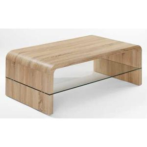 table basse chene clair sonoma achat vente table basse. Black Bedroom Furniture Sets. Home Design Ideas