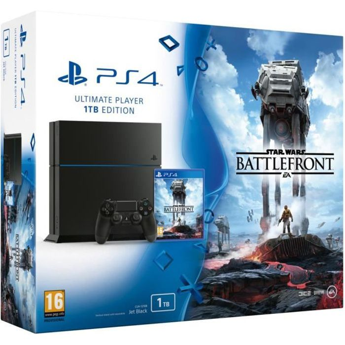 ps4 1 to star wars battlefront achat vente console ps4 nouveaut pack ps4 1 to star wars. Black Bedroom Furniture Sets. Home Design Ideas