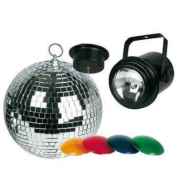 Par36 filtres couleurs boule facette 20 cm moteur boule a facettes avis et - Ampoule boule a facette ...