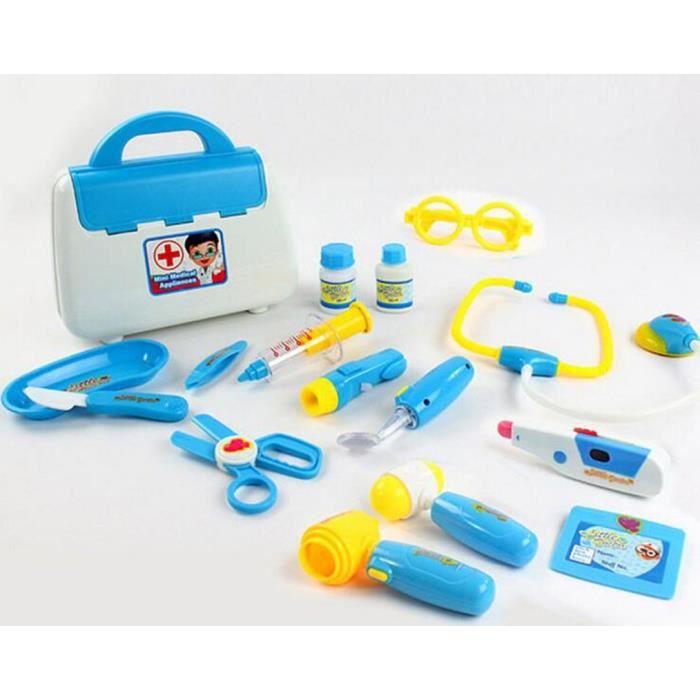 Docteur la peluche la malette de doc 15 pcs set bleu achat vente docteur v t rinaire - Docteur la peluche malette ...