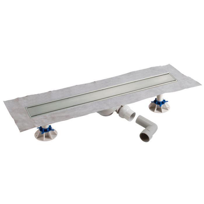 caniveau de sol inox complet pour douche l 39 achat vente caniveau regard pack complet. Black Bedroom Furniture Sets. Home Design Ideas