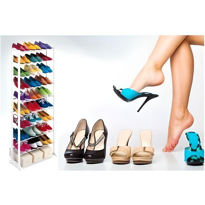 meuble chaussure de 30 paires gagner de l 39 espace dans. Black Bedroom Furniture Sets. Home Design Ideas